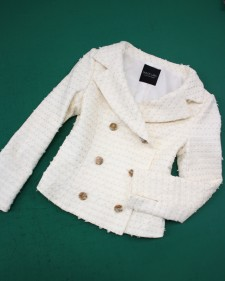 白リントンジャケット/<br />White Lynton jacket